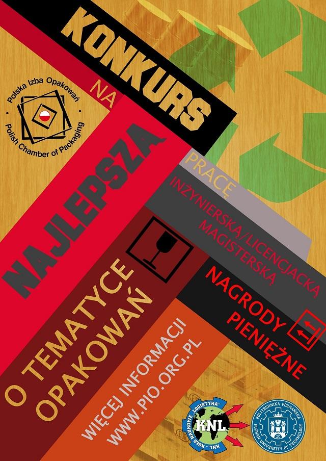 Plakat reklamowy II edycji konkursu na prace dyplomowe o tematyce opakowaniowej