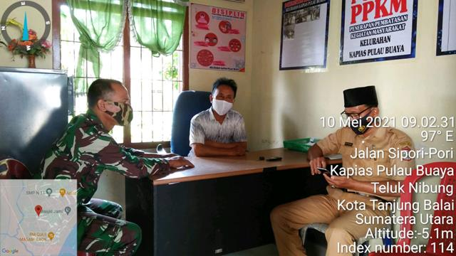 Jelang Idul Fitri, Personil Jajaran Kodim 0208/Asahan Mengantisipasi Melalui Komsos