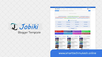 Jobiki - Premium Job Portal Blogger Template