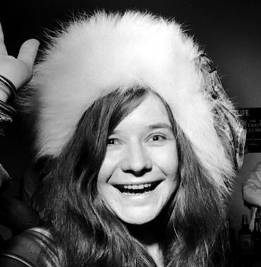 Foto de Janis Joplin sin maquillaje