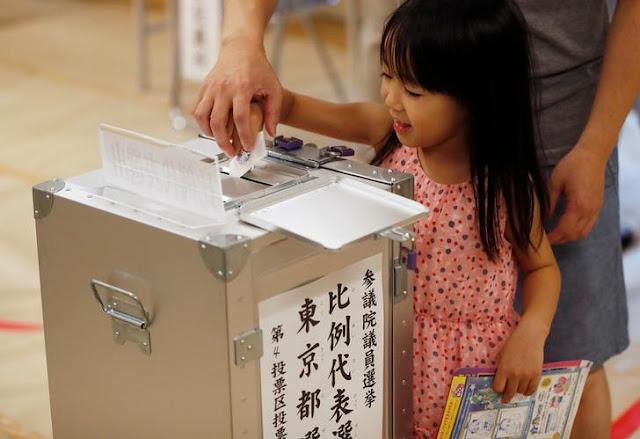 Pemungutan Suara dalam Pemilihan Majelis Tinggi Sedang Berlangsung di Jepang