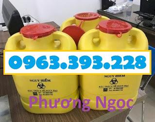 Bình hủy kim tiêm y tế, hộp đựng vật sắc nhọn 6.8 Lít, hộp hủy kim tiêm H%25C4%2590KT6.8L6
