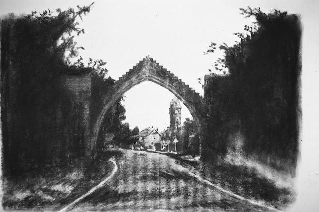 Edzell Arch, village of Edzell, Angus Scotland 1990 by F. Lennox Campello