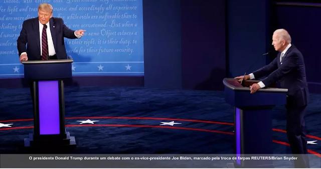 """Cala a boca"" e ""palhaço"": Biden e Trump trocam insultos no primeiro debate presidencial nos EUA"