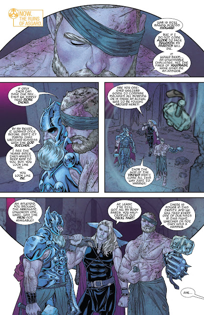 All-Father Thor, Thor and Unworthy Thor talking and planning to fight Malekith in War of the Realms Issue #6 by Igor11 Comics.