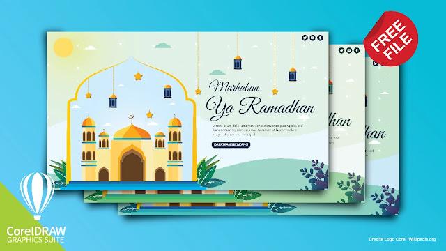 Free Ramadhan : Download Kumpulan Desain Flat Ramadhan CorelDraw Dan Illustrator