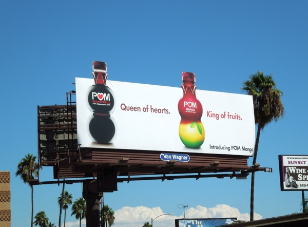 Pom Mango King of fruits billboard