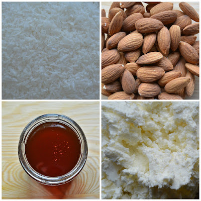 Fit kokosanki z migdałową nutą - składniki