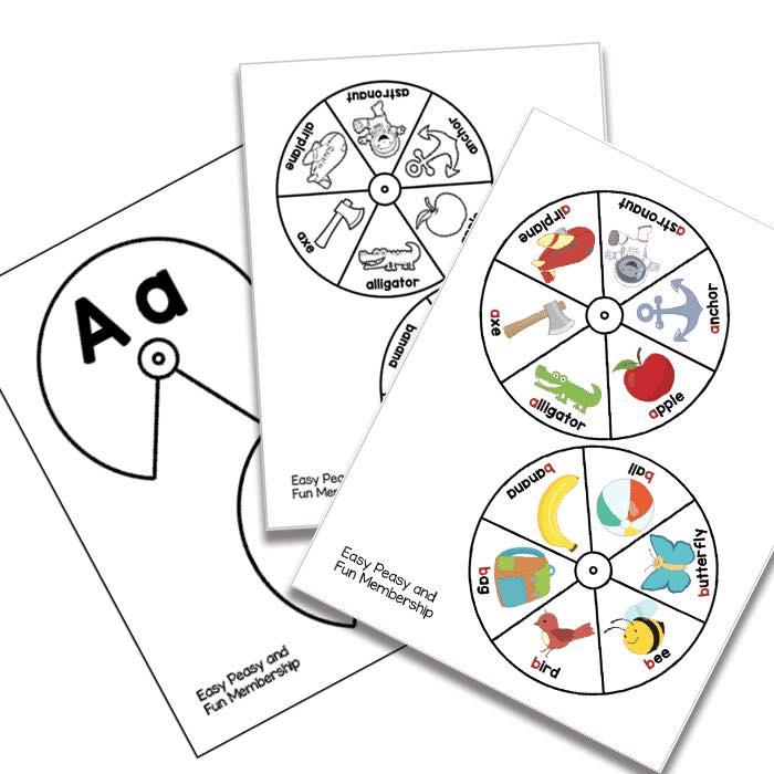 Teacher Neidinha Franca: #Printable #Alphabet #Spinners #