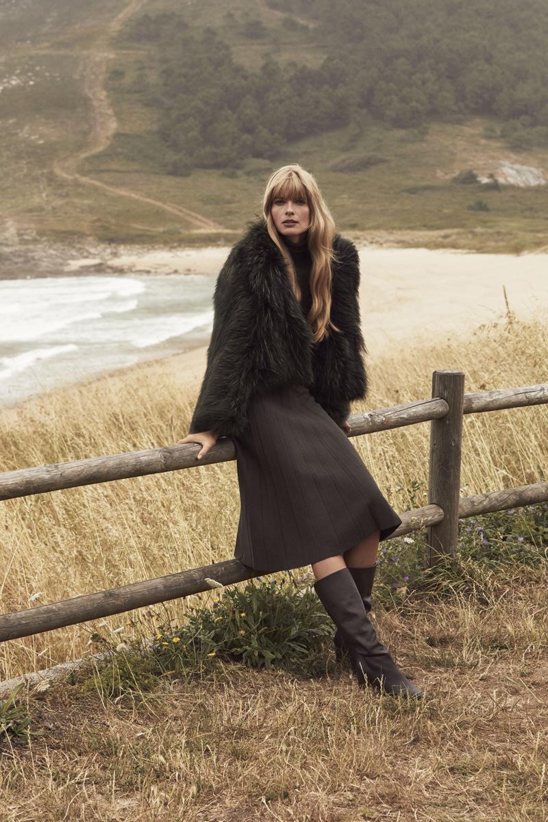 Julia Stegner stars in Pedro del Hierro winter 2019 campaign