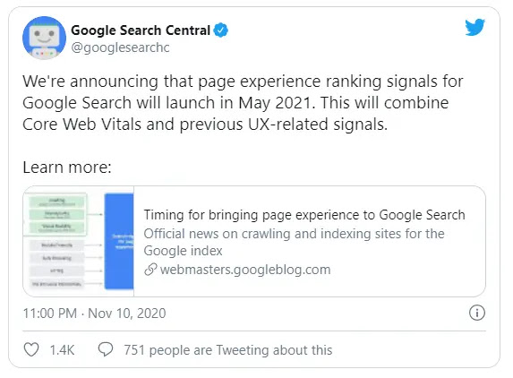 Official announcement from Google