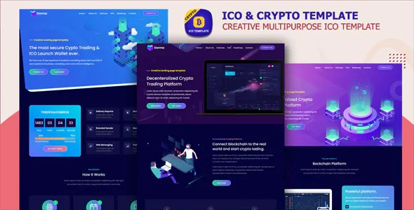 Best ICO and Cryptocurrency Template