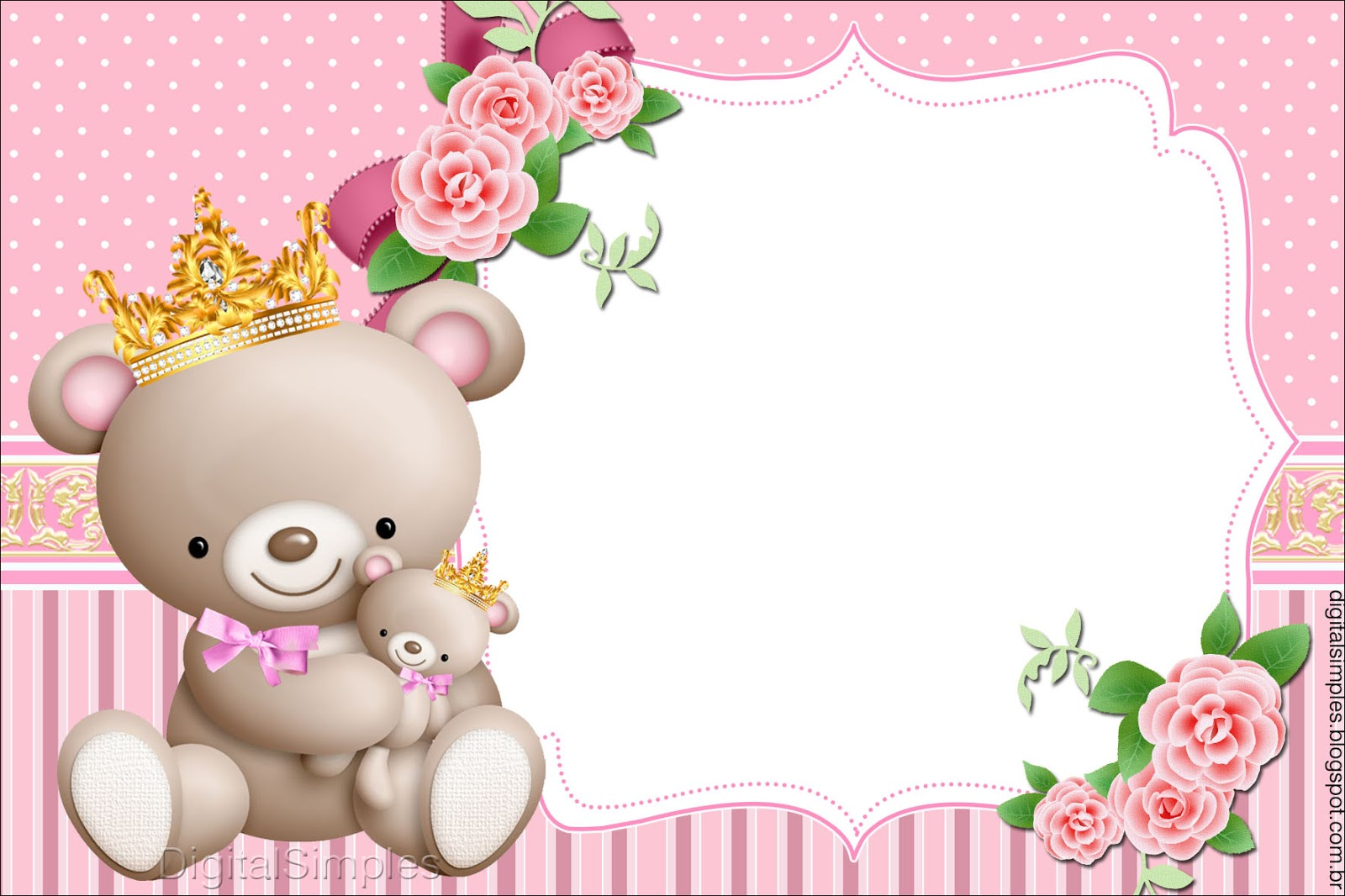 Princes Teddy Bear Free Printable Invitations Boxes And Free