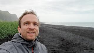 Sven at Black beach Iceland