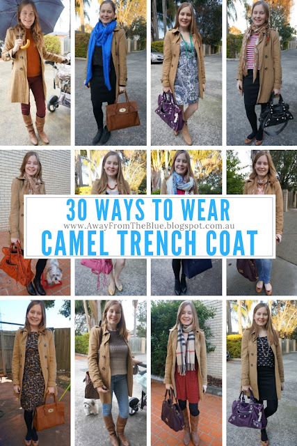 30 Ways To Wear A Camel Trench Coat | #30wears | away from the blue blog