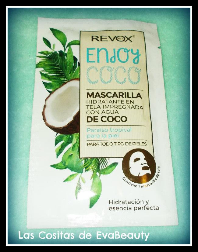 mascarilla facial tissu con agua de coco revox