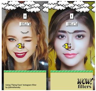 Mudah !!, Begini Cara main flying face instagram berdua dengan teman