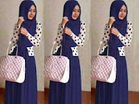 setelan muslim Shireen set navy