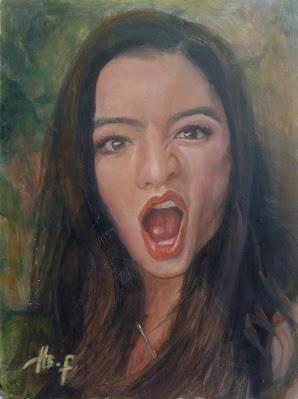 Raline Shah Portrait Painting