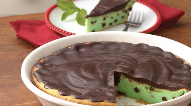 Bisquick grasshopper cheesecake