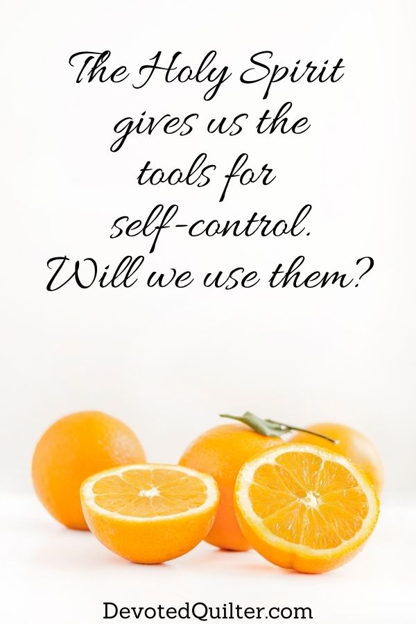 The Holy Spirit gives us the tools for self-contol. Will we use them? | DevotedQuilter.com