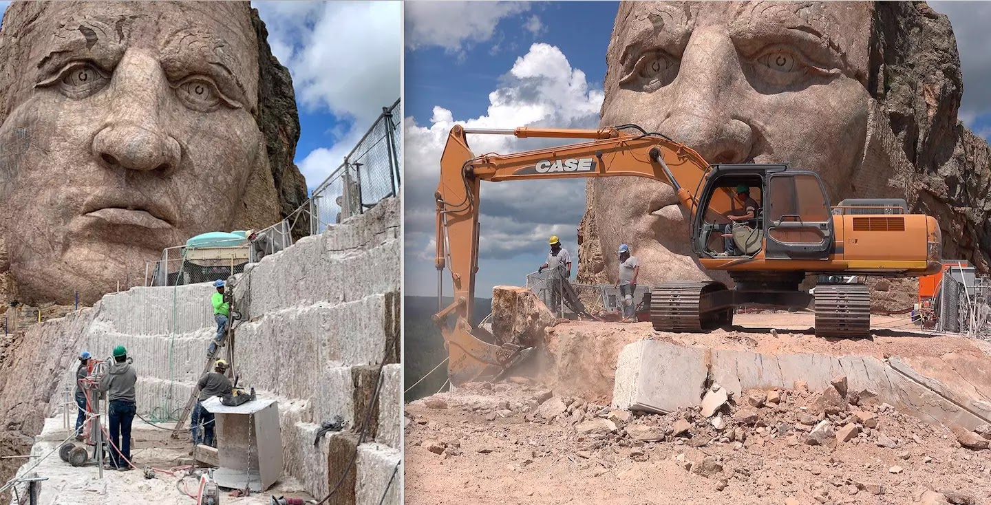 After 70 Years Of Work, Sculpture Of Native American Hero 'Crazy Horse' Takes Shape In South Dakota