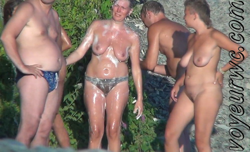 Spy Cam Waterfall Shower 55-64 (Naked women caught on spy cam taking shower natural waterfall)