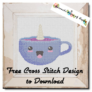 free kawaii cross stitch pattern to download kawaii cappuccinocorn