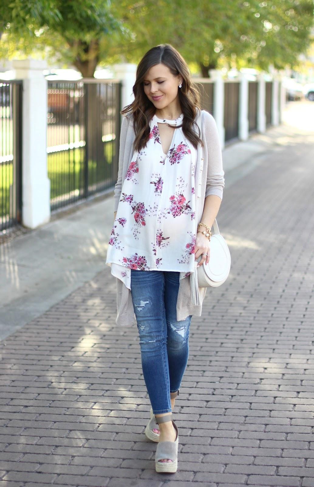 Floral Tunic & Neutrals