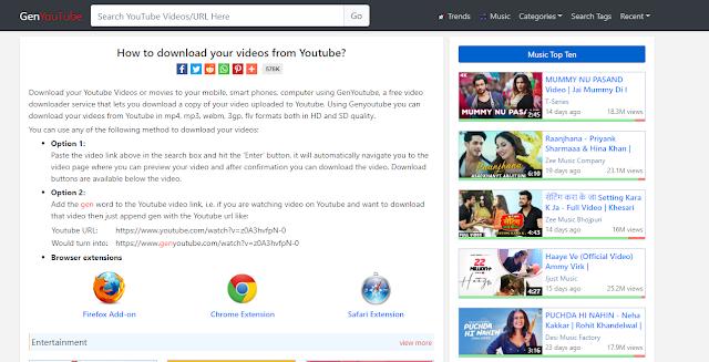 GenYoutube Net - Download Youtube Videos free  में  कैसे करते है