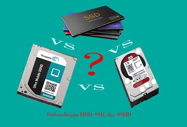 Perbedaan HDD, SSD, dan SSHD serta kelebihan dan kekurangan HDD, SSD, dan SSHD