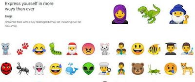 Fitur Baru New Emoji Android Oreo Dengan Tampilan Baru