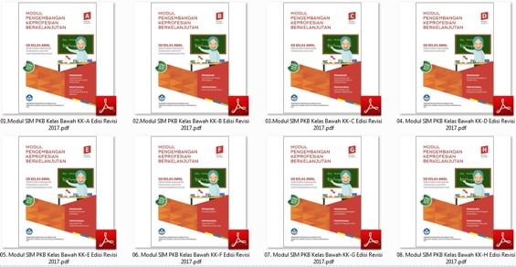 Program Pengembangan Keprofesian Berkelanjutan bagi Guru merupakan tindak lanjut dari hasi Download 10 Modul SIM PKB Guru Pembelajar SD Kelas Bawah/Awal Edisi Revisi 2017