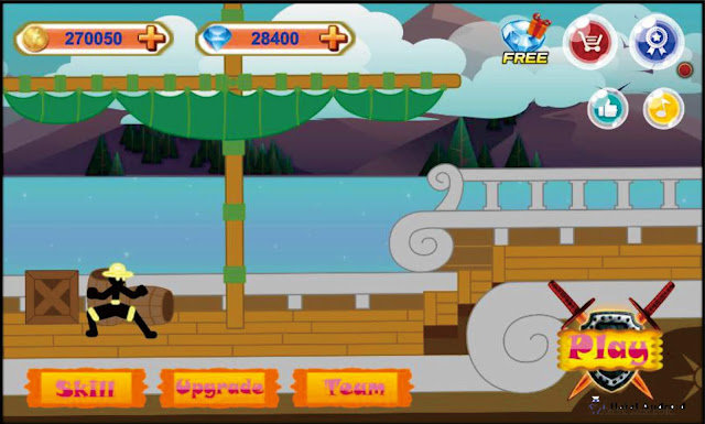 Game One Piece Android Terbaru Stickman Hero : Pirates Fight