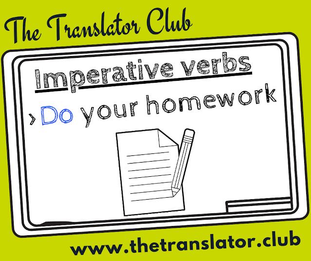 Imperative verbs