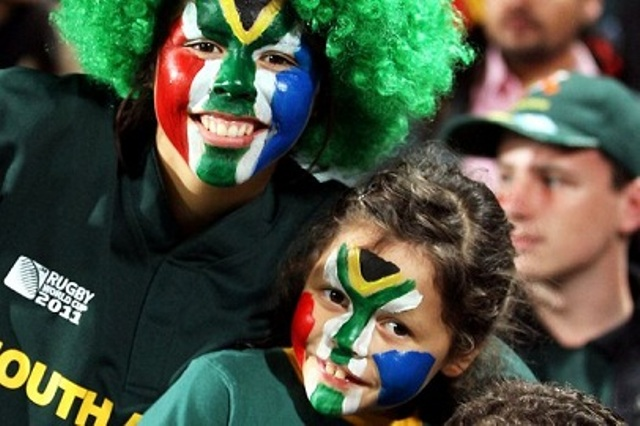 South African Flag Face Paint