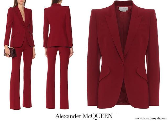 Crown Princess Mary wore Alexander McQueen Crepe blazer
