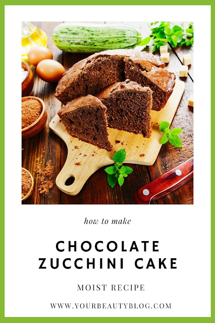 How to make a delicious chocolate zucchini cake recipe. If you need zucchini recipes, look no further than this dessert. This makes the best moist cake!  The zucchini melts into the batter.  It's baked in a 9x13 pan.  We call it death by chocolate for it's rich chocolate taste. This is a delicious way to eat extra zucchini! #zucchini #chocolate #cake