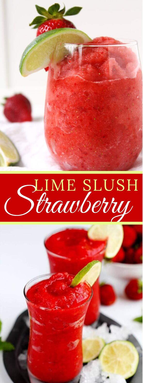 STRAWBERRY LIME SLUSH #drinks #summerdrink