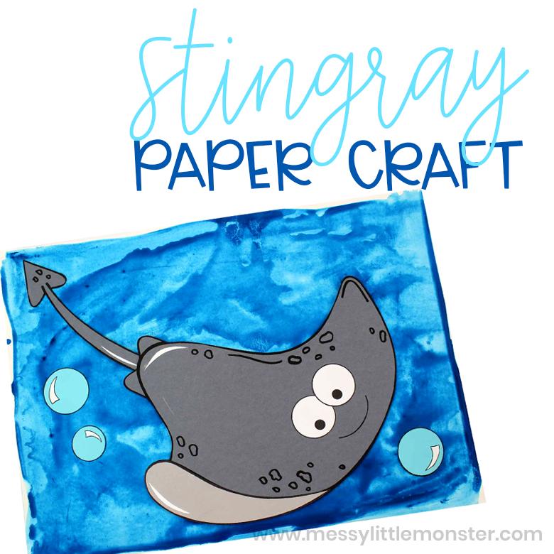 stingray paper craft