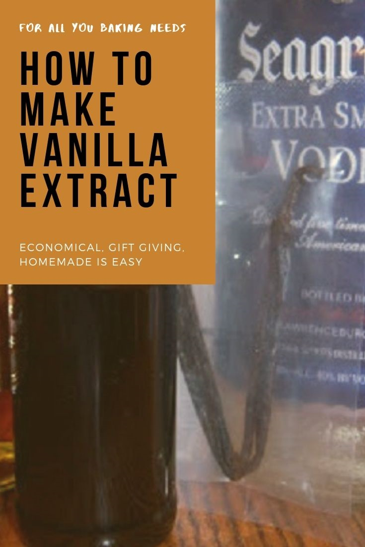 this is a pin that has a photo of ingredients on how to make pure vanilla homemade extract with vanilla beans