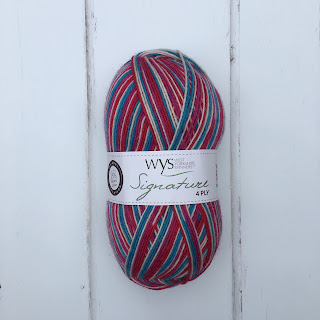 Ball of West Yorkshire Spinners Yarn Shop Day sock yarn