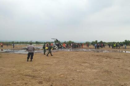 Helikopter Jatuh di Kendal, Saksi Lihat 6 Orang Berguling Keluar
