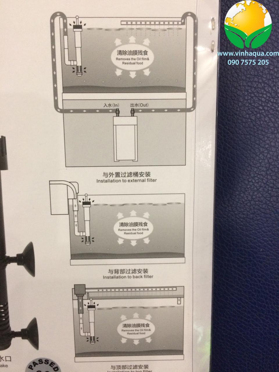 Phụ kiện thủy sinh - Lọc váng thủy sinh không bơm Atman SK600