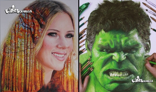00-Burch-Scribbles-Photo-Realistic-Drawings-of-Celebrities-and-Friends