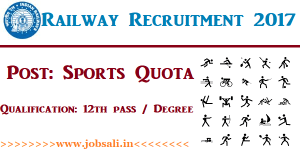 Indian Railway Jobs, Indian Railway Vacancy, Railway Sports Quota Vacancy