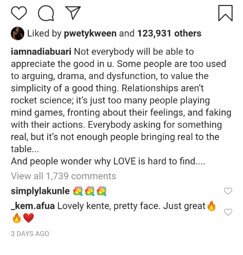 """Not everybody will be able to appreciate the good in you"" – Nadia Buari says"