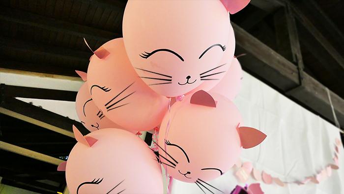 palloncini con orecchie e baffi da gatto
