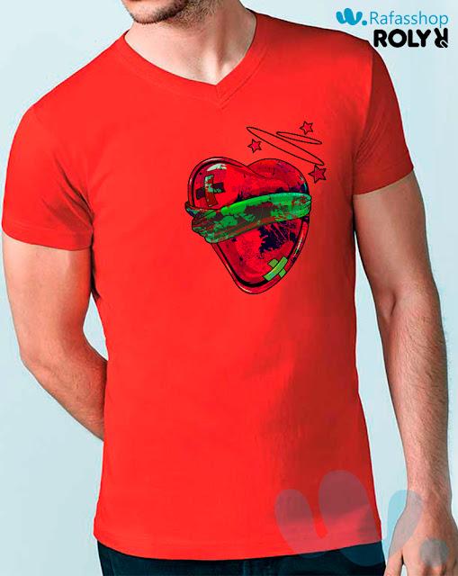 Camiseta Samoyedo 6503 Roly Hombre Manga Corta