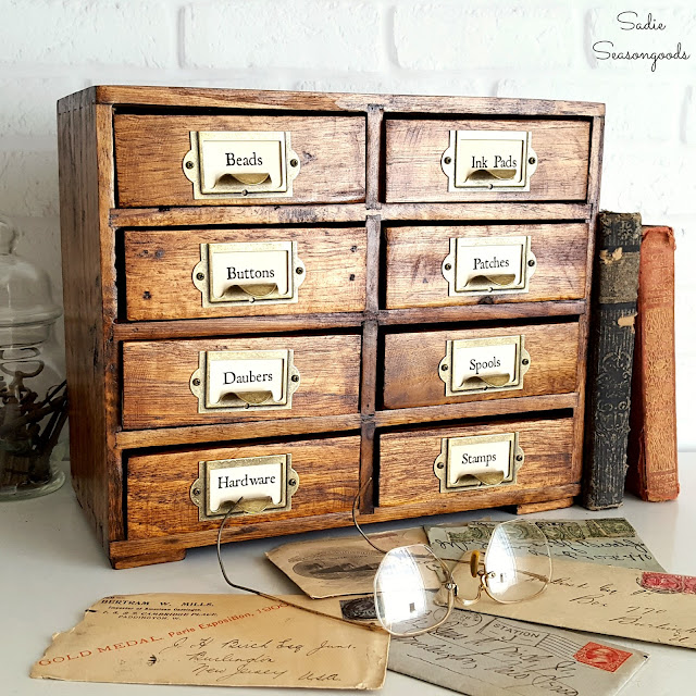 vintage library card catalog